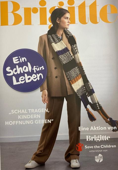 Er ist eingetroffen !! Der Schal fürs Leben 2021. Die Aktion für notleidende Flüchtlingskinder von Brigitte und Save the Children,...